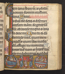 Historiated Initial With The Death of the Virgin Mary, In 'The De Brailes Hours'